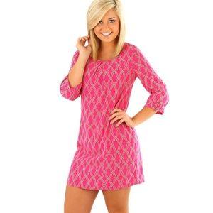 Women's Peach Love Hot Pink/Gray Dress - NWT - L